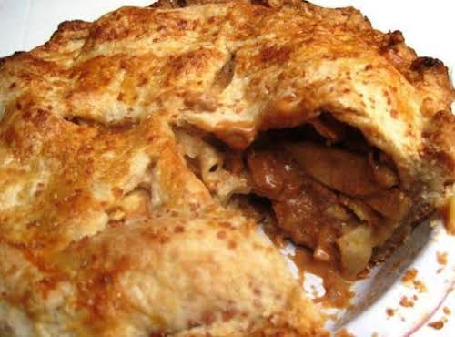 "Dulce de Leche Apple Pie ""Who can resist apples and caramel in..."