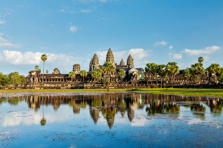 Angkor Wat, Cambodia's mind-blowingly beautiful temple complex.