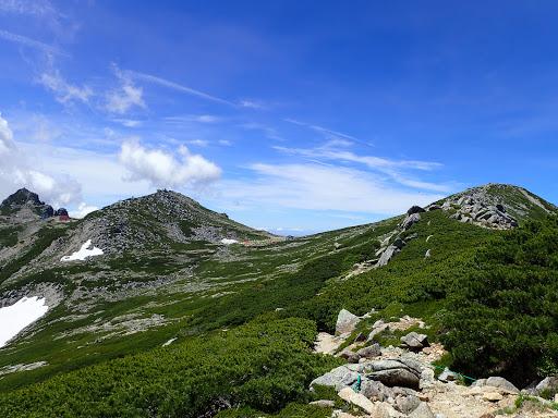 左から駒ケ岳・中岳・宝剣岳