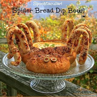 Spooktacular Halloween Spider Bread Bowl & Dip.