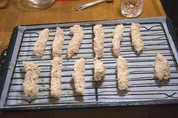 Repeat for the remainder of the pork strips.