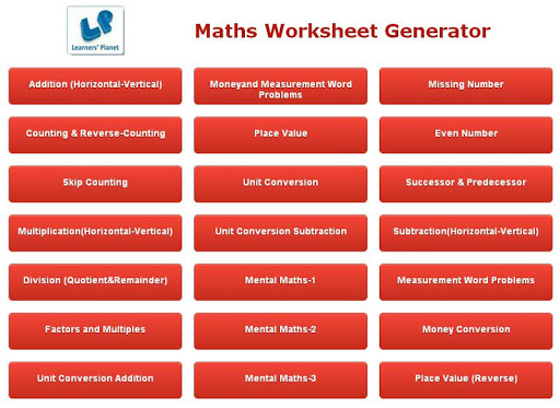 Math Worksheet Creator Apk