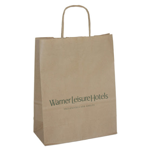 Custom Branded Kraft Paper Carrier Bag