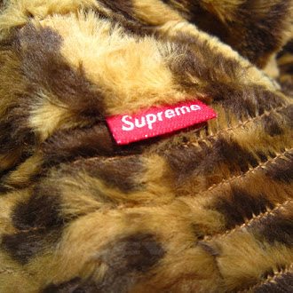 519ceced045 BRAND NEW SS14 SUPREME FUR LEOPARD CRUSHER BUCKET HAT LIMITED ITEM ...