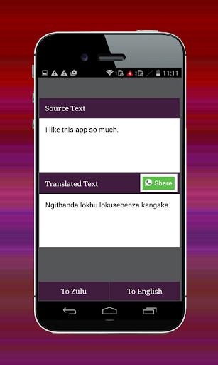Zulu English Translator