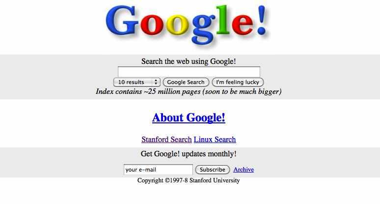 Поисковая система Google - 1998