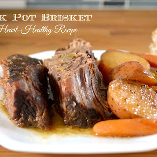 Crock Pot Heart Healthy Brisket and Vegetables