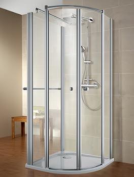 Paroi de douche en U, Bella Lux II Garant, avec 1 paroi latérale