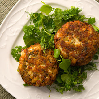 Fish Cakes with Wild Rice.