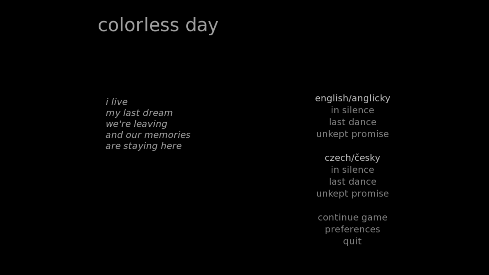 colorless day- screenshot