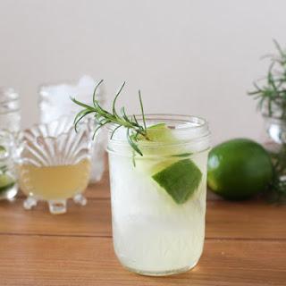 Rosemary Honey Gin Rickey Cocktail.