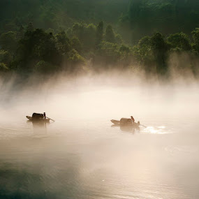 Misty River  by CK NG - Landscapes Travel
