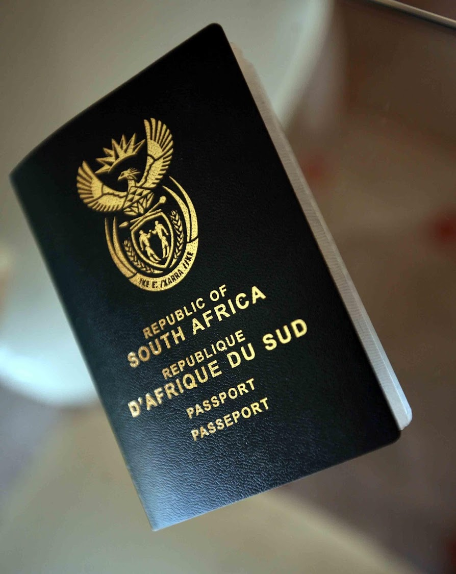Republic of South Africa's passport.