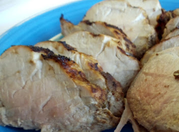 Roast Pork Loin With Balsamic Mustard Rub Recipe