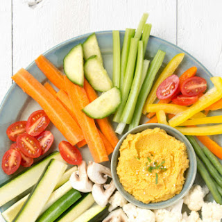 Roasted Carrot and Cauliflower Hummus