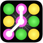 Color ball Connect Dots icon