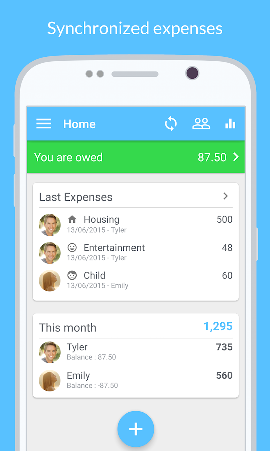 Cospender Split group expenses- screenshot