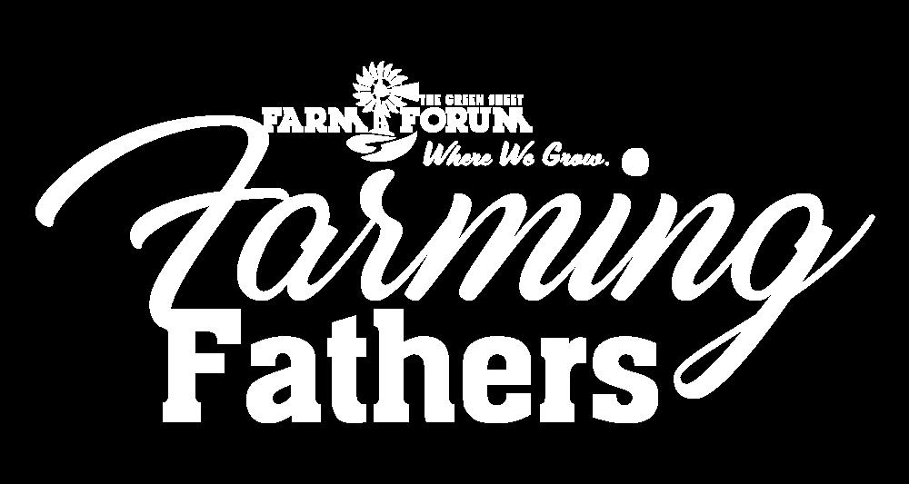 Farm Forum Farming Fathers all white logo