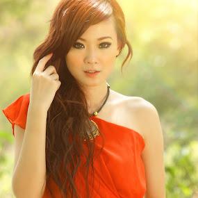 Sunsmile by Arrahman Asri - People Fashion ( model, fashion, red, sunsmile, beauty, smile, people )