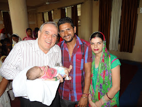 Photo: This dear couple ask me to pray for their first new born child which had a birth illness.