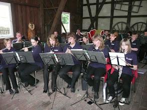 Photo: Feuerwehrblasorchester unterhielt musikalisch die Besucher