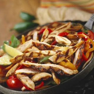 Marinated Chicken Strips with Peppers.