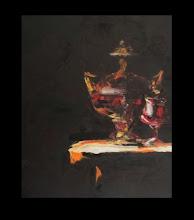 Photo: Андрей Цуп, «Натюрморт темний (№2)», холст, масло, 60х50см