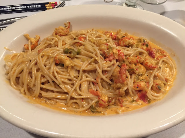"""New Orleans crawfish pasta """"Le Ruths""""  Delicious!"""