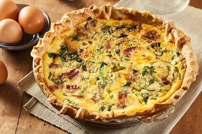 Easy bacon cheese and spinach quiche recipe yummly forumfinder