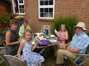 Photo: BBQ with Nana and Grandpa Fred