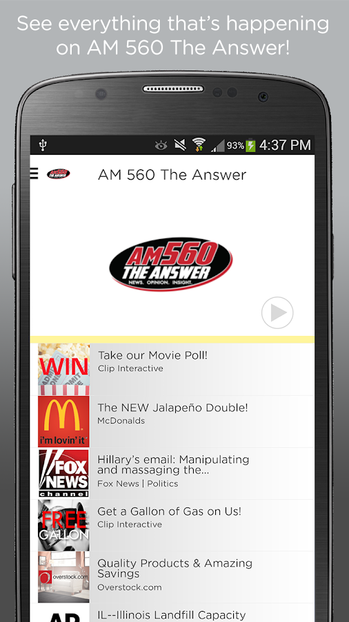 AM 560 TheAnswer- screenshot