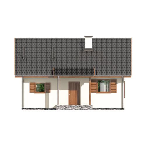 D67 - Paulinka I wersja drewniana - Elewacja przednia