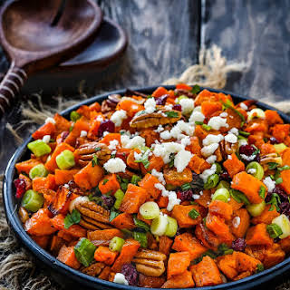 Roasted Sweet Potato and Cranberry Salad.