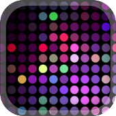Nightclub Neon Music Dots Tema