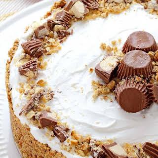 Peanut Butter Pie with Pretzel Crust.