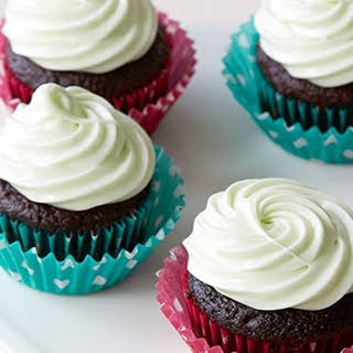 RecipeMini Chocolate Cupcakes with Vanilla Frosting.