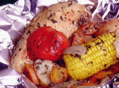 Grilled Chicken Pouches Recipe