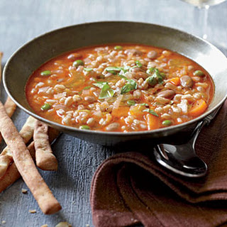 Mixed Vegetable and Farro Soup