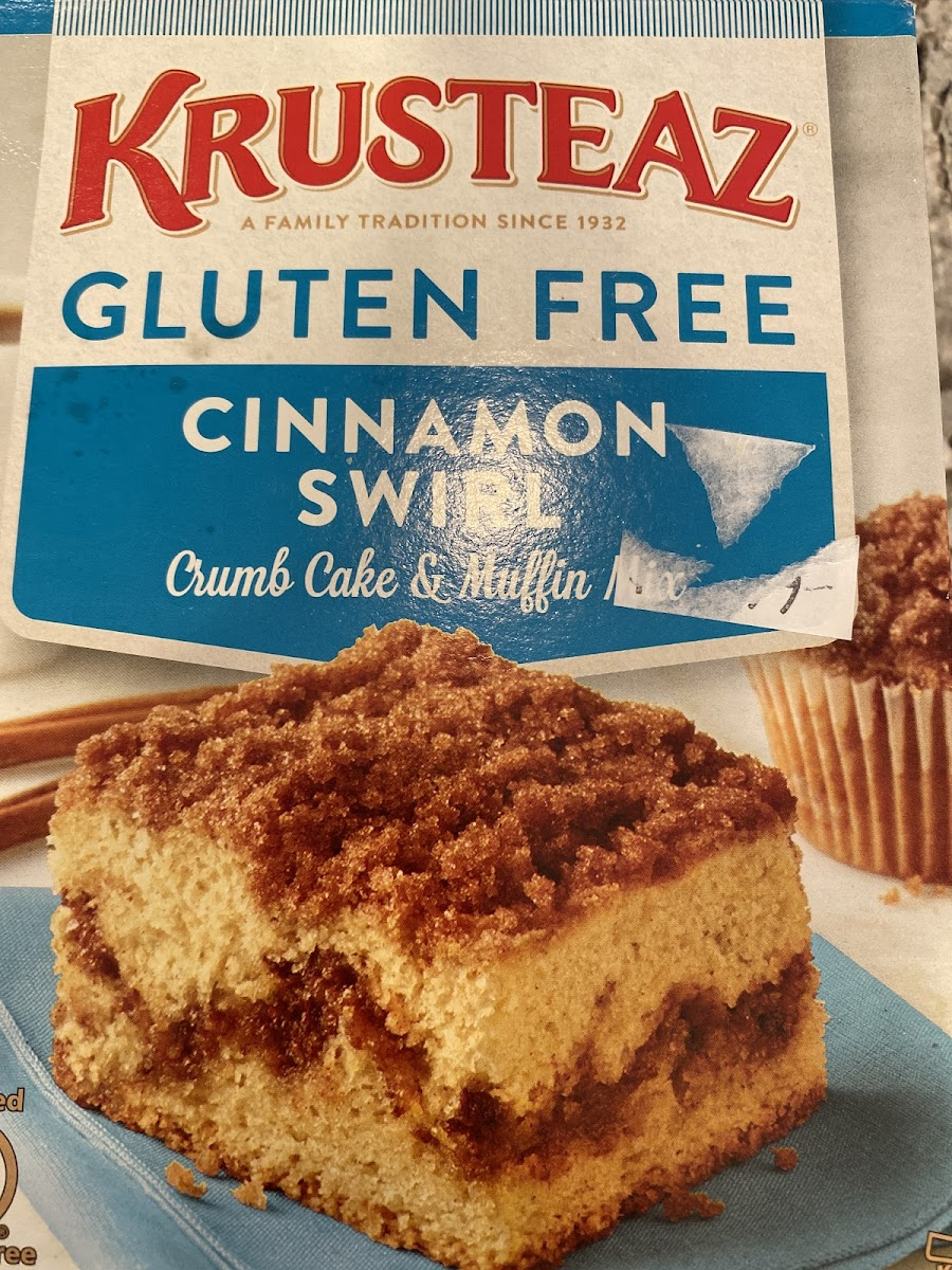Cinnamon swirl crumb cake & muffin mix