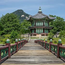 Pavilion by Varok Saurfang - Buildings & Architecture Bridges & Suspended Structures ( wooden, pavilion, bridge, culture, asian )
