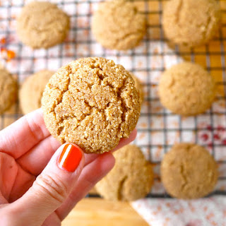 Coconut Flour Ginger Cake Cookies (paleo, GF).