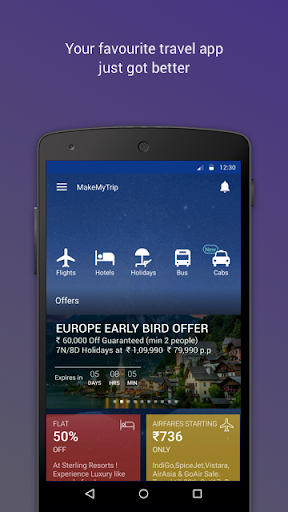 MakeMyTrip-Flights Hotels Cabs for PC