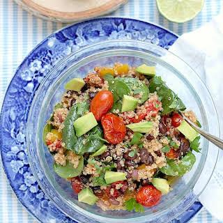 Skinny Roasted Vegetable Quinoa Salad.