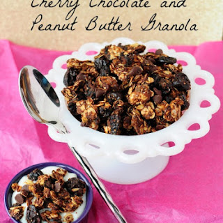 Skinny Cherry Chocolate and Peanut Butter Granola