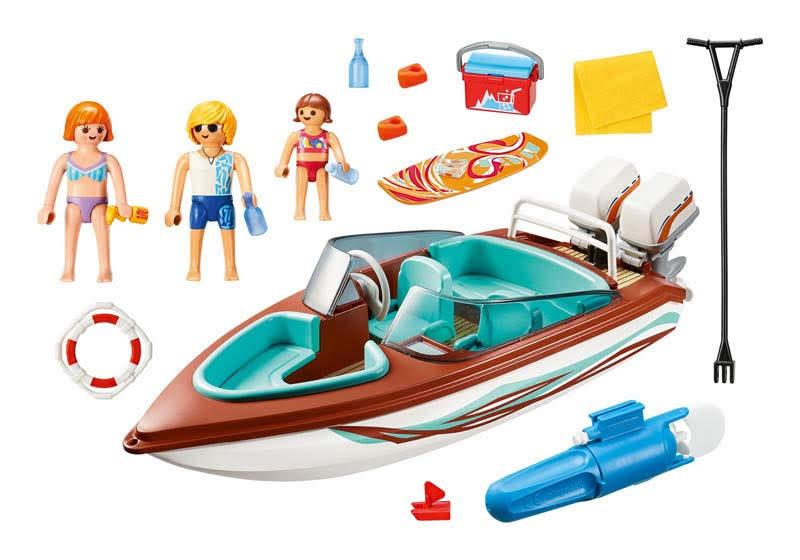 Contenido Real de Playmobil® 9428 Lancha Motora con Motor Submarino