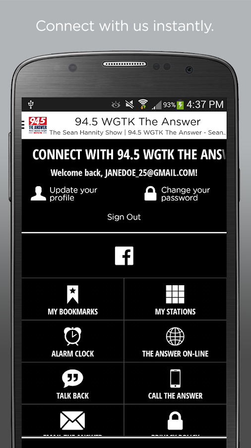94.5 WGTK The Answer- screenshot