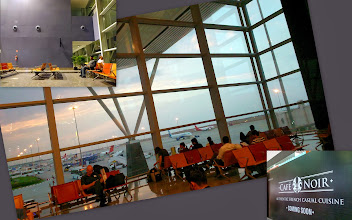 Photo: Stylish and spacious Bangalore Airport (Kempegowda International Airport: http://www.bengaluruairport.com/home.jspx?_afrLoop=1326776839985967&_afrWindowMode=0&_adf.ctrl-state=11b4hxf134_4). Unlike that shabby Pune Airport, they have almost everything an urban airport must have. Particularly, I liked the Live Pasta offered at the food court inside security area. By the way, I remember till recently, taking pictures were somewhat taboo even in the giant Mumbai's Chhatrapati Shivaji International Airport and a creepy looking officer would often come and warn the people, but it seems things have been changed nowadays. They have ample cafes and eateries outside the terminal too. 6th March updated -http://jp.asksiddhi.in/daily_detail.php?id=474