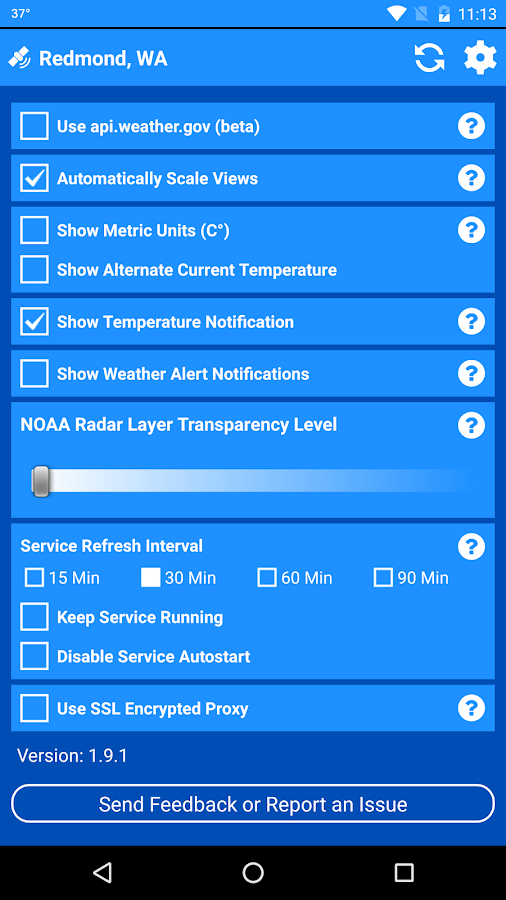 National Weather Service- screenshot