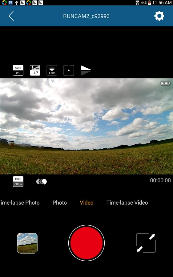 RunCam App- screenshot