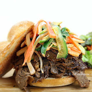 Bulgogi and Spicy Slaw Sandwich